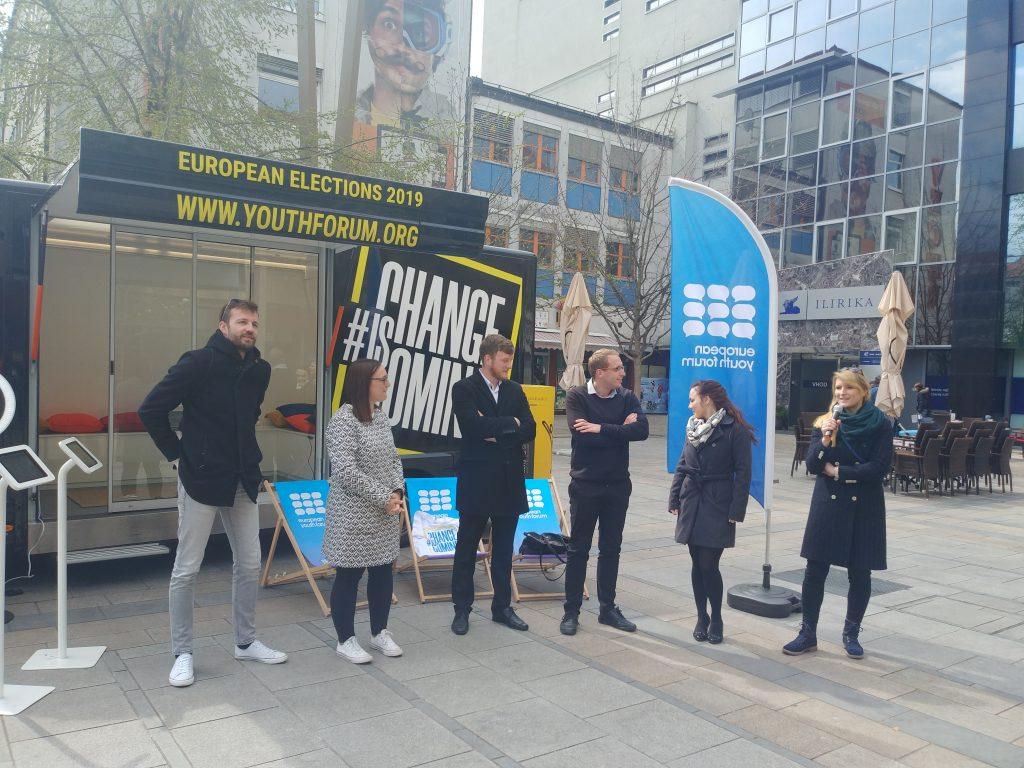 Na Trgu Leona Štuklja soočenje mladih kandidatov za evropske poslance