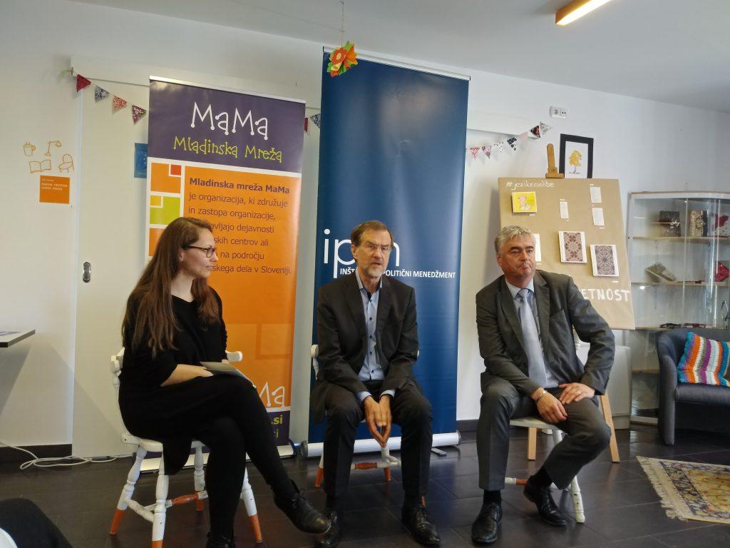 Milan Zver in Lojze Peterle z mladimi razpravljala o prihodnosti Evropske unije