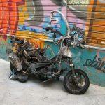 Na Valvasorjevi ulici zagorel skuter